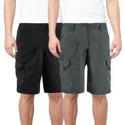 Burnside Men's Quick Dry Cargo Swim Board Shorts Beach Slim
