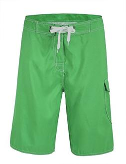 Nonwe Men's Quick Dry Casual Board Shorts Deep Green 42