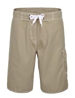 Nonwe Men's Quick Dry Casual Board Shorts Khaki 36