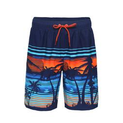 Men's Quick Dry Drawstring Waist Swim Trunks Board Shorts wi