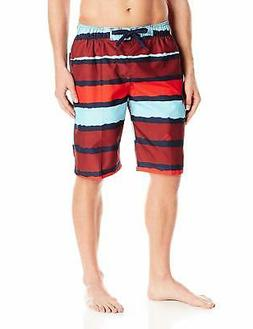 Kanu Surf Men's Quick Dry Striped Beach Board Short Swim Tru