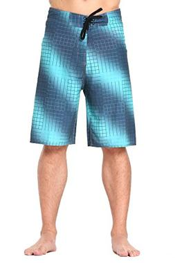 Clothin Men's Quick Dry Swim Trunks Beach Board Shorts with