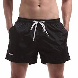 Funic Men's Shorts Swim Trunks Quick Dry Beach Surfing Runni