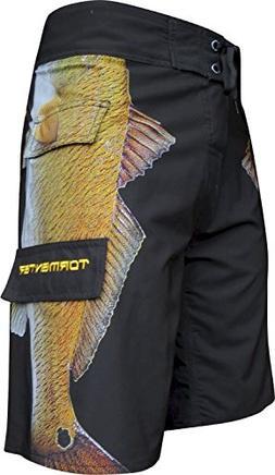 Tormenter Men's Side To Boardshorts, Redfish, 36