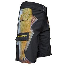 men s side to boardshorts redfish 40