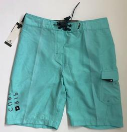 "RIP CURL Mens Size 31 Medium Aqua Blue 21"" Swim Surf Boardsh"