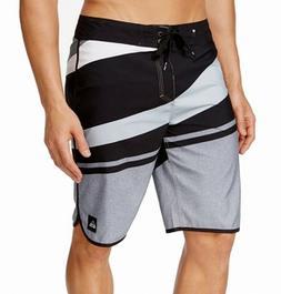 "Quiksilver Men's Slash Scallop 21"" Boardshorts Black Size 32"