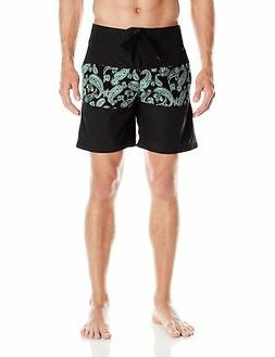 Kanu Surf Men's Solo 18 Inch Panel Boardshort, Black, 32