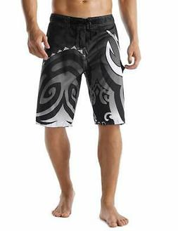 Unitop Men's Sports Swimsuit Summer Quick Dry Printed Gray 4
