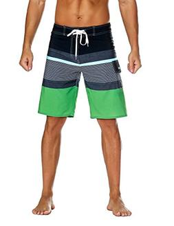 Nonwe Men's Sportwear Quick Dry Beach Shorts with Lining Bla