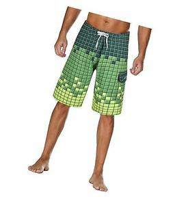 Nonwe Men's Sportwear Quick Dry Board Shorts with Lining 32