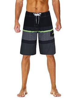 Nonwe Men's Sportwear Quick Dry Board Shorts with Lining Bla