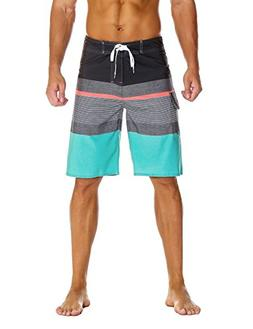 Nonwe Men's Sportwear Quick Dry Swim Trunks with Lining Gray