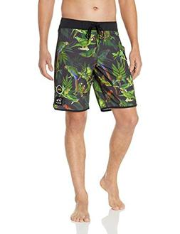 RVCA Men's SQUAWKER HI Trunk, Black, 30