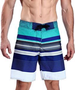 Milankerr Men's Stripe Boardshort Navy