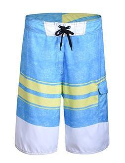 fbaa7391b25 Unitop Men's Summer Holiday Stripped Quick Dry Board Shorts