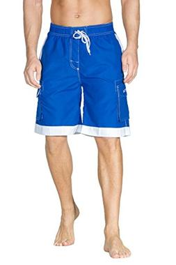 Nonwe Men's Surf Quick Dry Swim Shorts with Drawsting Blue 2