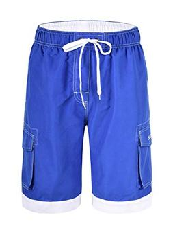 Nonwe Men's Surf Water Summer Board Shorts with Drawsting Na