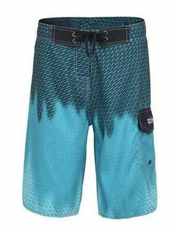 Unitop Men's Surfing Board Shorts Summer Quick Dry, Blazing