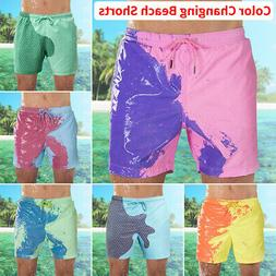 Men's Swim Shorts Swimwear Swim Trunks Color-changing Board