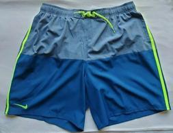 Nike Men's Swim Swimming Swimwear Trunks Board Shorts Green