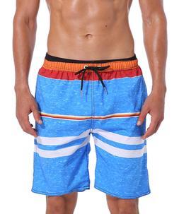 """Milankerr Men's Swim Trunk Boardshorts S30""""-32"""", LightBlue"""