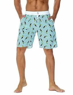 Unitop Men's Swim Trunks Classical Volley Board Shorts Color