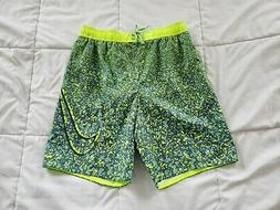 Men's Nike Swim Trunks Medium Boardshorts Swimming Green Tra