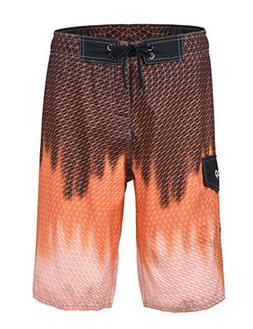 unitop Men's Swimwear Boardshorts Summer Quick Dry Printed w
