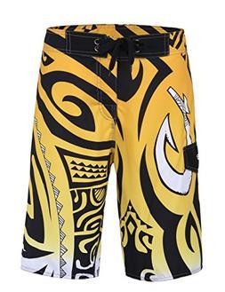 unitop Men's Swimwear Boardshorts Summer Quick Dry Printed Y