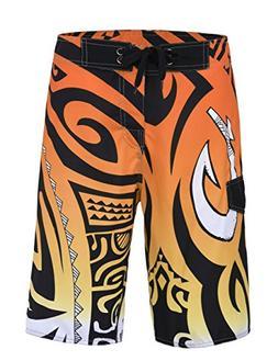 unitop Men's Swimwear Boardshorts Summer Quick Dry Printed O