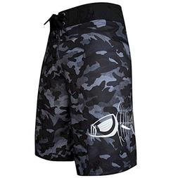 Tormenter Men's Tuna Waterman Stretch Boardshorts, Gray Camo