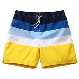 Men's Ultra Quick Dry Sands & Sea Stripes Board Shorts Large