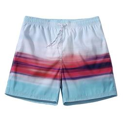 Men's Ultra Quick Dry Skyline Graphic Board Shorts Large 34-