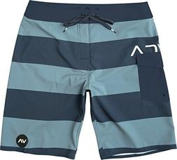 RVCA Men's Uncivil Stripe Trunk, Classic Indigo, 34