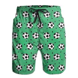 BECHDS Men's Soccer Football Sports Boardshorts Beach Shorts