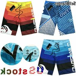 Mens Summer Beach Board Shorts Surf Sport Swim Wear Trunks P