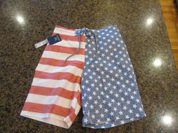 George Mens 3XL 48 50 Shorts Sunwashed American Flag E-Board