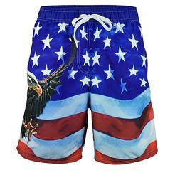 **ON SALE** Men's  American Flag Swim Trunks Board Shorts