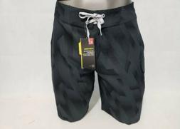 Mens Under Armour Black Reblek Printed Boardshorts Sz 34 New