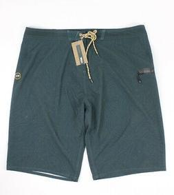 Jetty Mens Blackthym Boardshorts Black Green 38 New