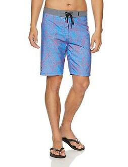 Hurley Mens Blue Pink Size 30 Drawstring Straight Tropical B