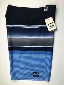 Billabong Mens Board Shorts Swim Suit 32 Black Striped Polye