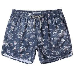 MaaMgic Mens Boys Short 80s 90s Vintage Swim Trunks with Mes