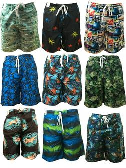 Mens Boys Swimming Shorts Board Surf Shorts Sports Swim Trun