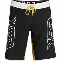 Fox Mens Flection TruMotion Standard Boardshorts Black Gold