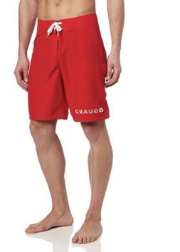 SPEEDO MENS GUARD 21 INCH BOARD SHORTS - SIZE 34 RED NEW FRE