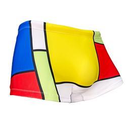 Maris Equi: Mens ModRian Square Leg Retro Swimsuit. Trunks.