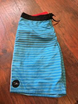 "Men's O'Neill Boardshorts 19"" Size 34 Blue Rare Limite"
