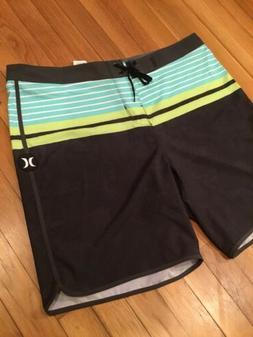 "Hurley Mens Phantom 19"" Aloha Stripe Board Shorts Size 36W"